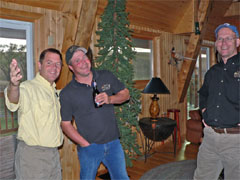 Scott Mathews and the guys in the Bad River Bucks & Birds lodge
