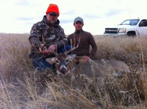 Mike Peak (left) with Bad River Bucks & Bird's guide, Kyle.