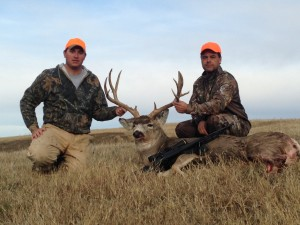 Johnny Finley (right) with Bad River Bucks & Birds guide, Tyler Rankin